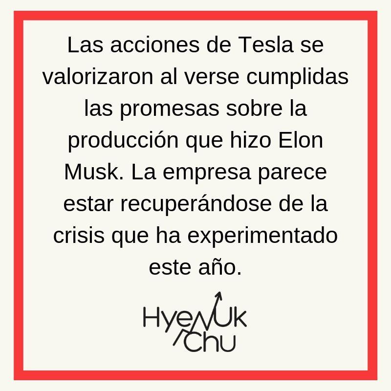 Clave sobre las acciones de Tesla en la Bolsa de Valores - Hyenuk Chu