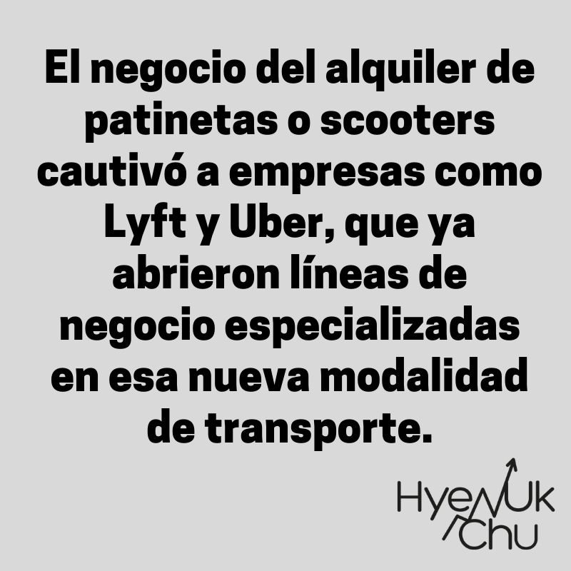 El nuevo negocio de Lyft y Uber - Hyenuk Chu