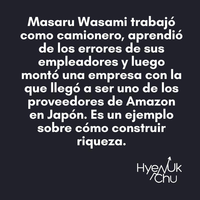 Dato clave sobre Masaru Wasami - Hyenuk Chu