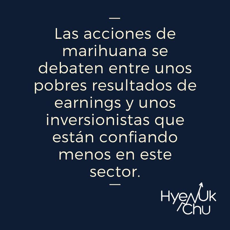 Clave sobre las acciones de marihuana - Hyenuk Chu