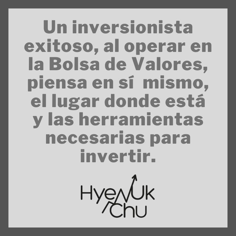 Tip sobre la pasos para invertir - Hyenuk Chu