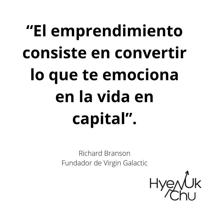 Frase del fundador de Virgin Galactic - Hyenuk Chu