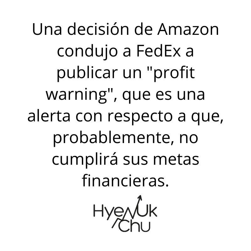 Tip sobre relación entre Amazon y FedEx - Hyenuk Chu