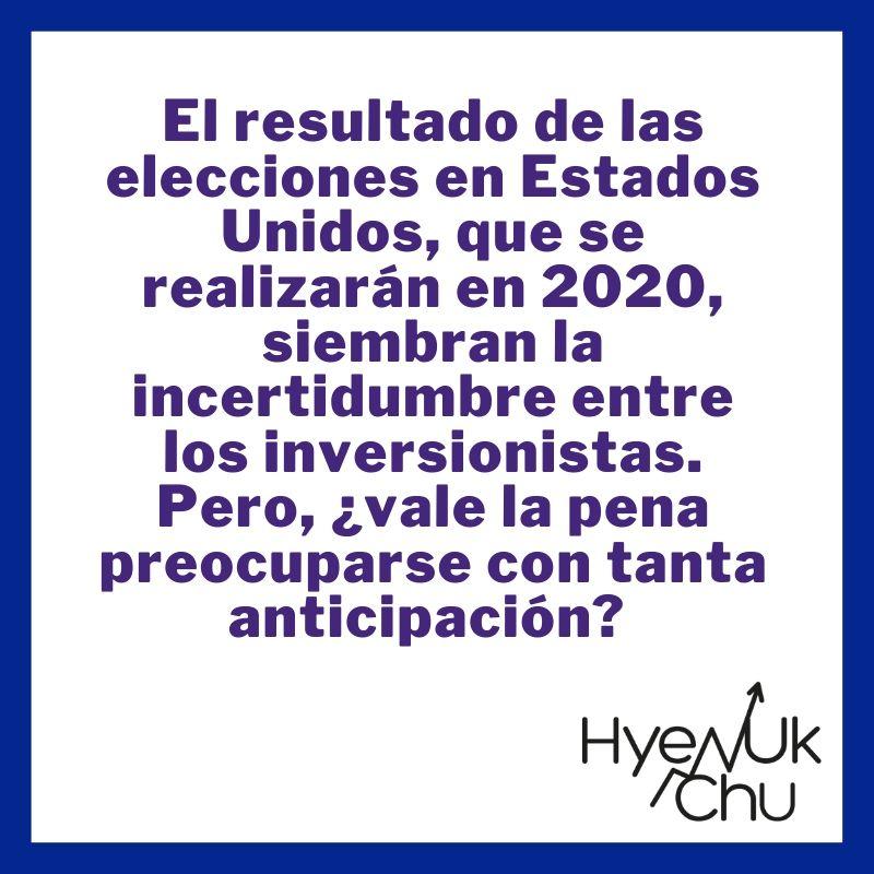 Tip sobre elecciones de Estados Unidos - Hyenuk Chu