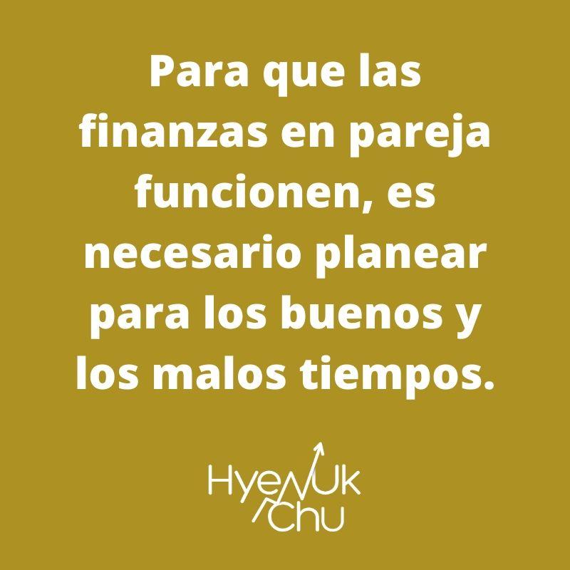 Consejo sobre las finanzas en pareja - Hyenuk Chu