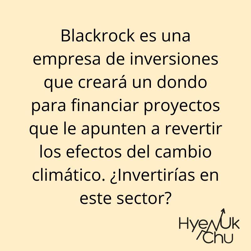 La estrategia de Blackrock - Hyenuk Chu
