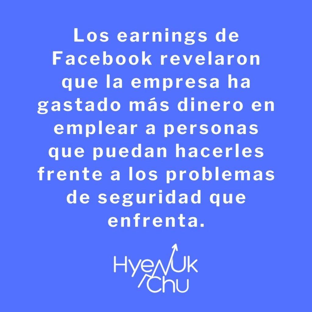 Earnings de Facebook y su estrategia - Hyenuk Chu
