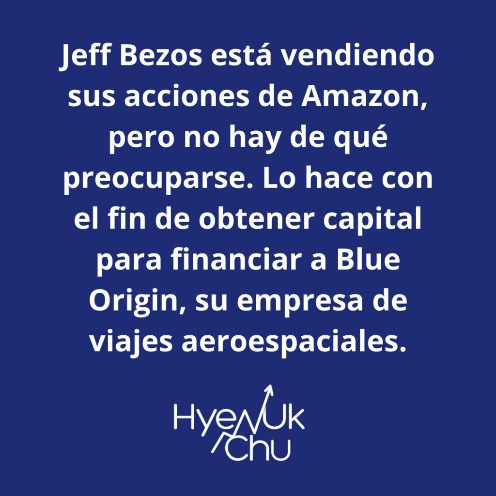 Dato sobre por qué Jeff Bezos vende sus acciones - Hyenuk Chu