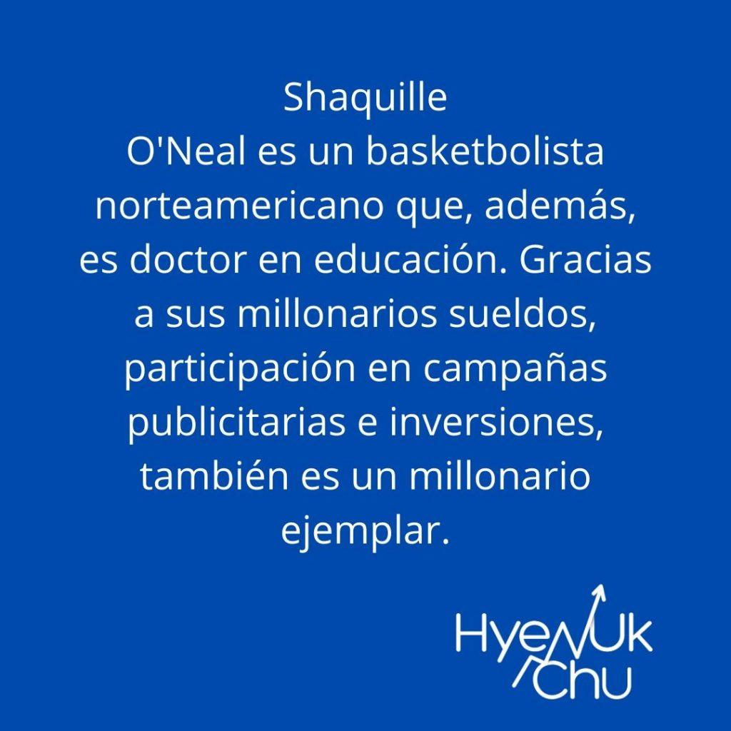 Dato sobre Shaquille O'Neal - Hyenuk Chu