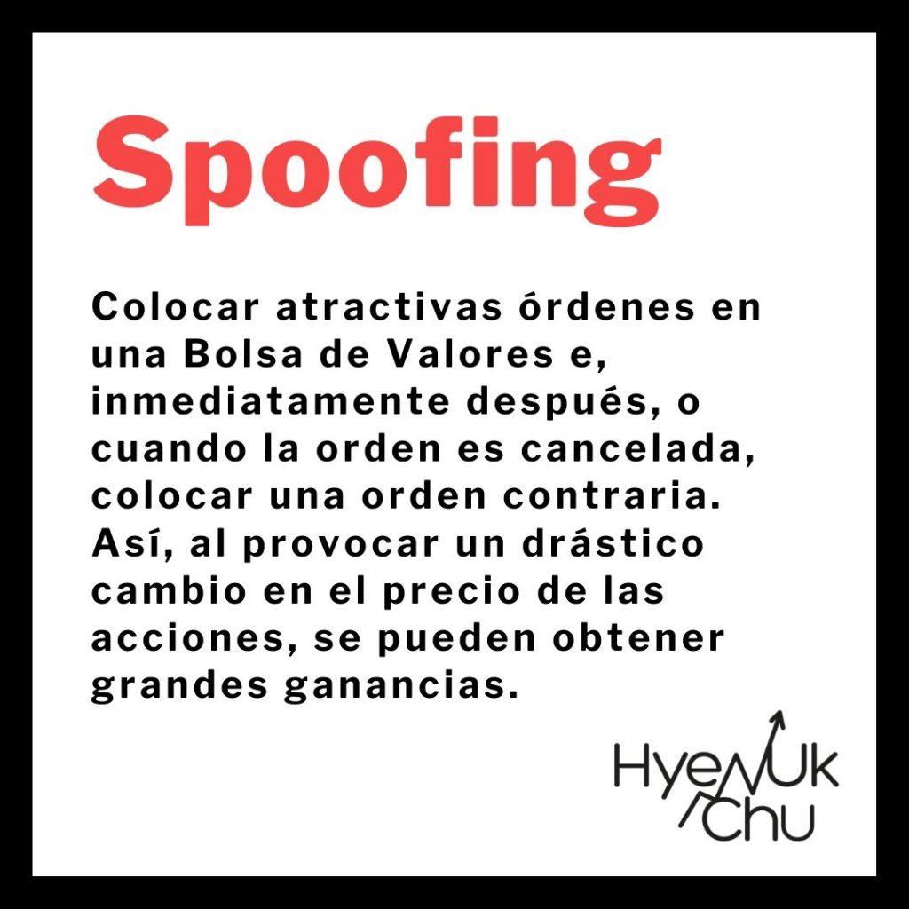 Definición de spoofing - Hyenuk Chu
