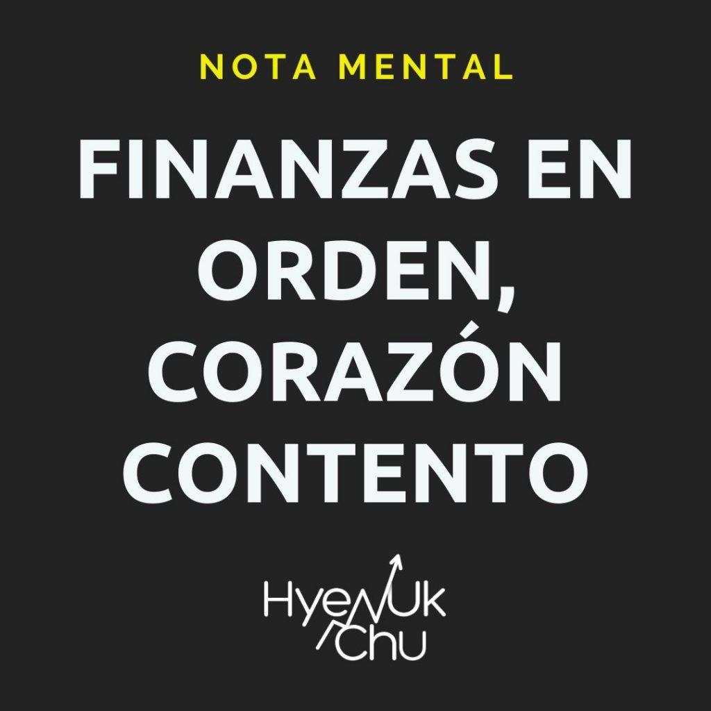 ¿por qué ajustar las finanzas? - Hyenuk Chu