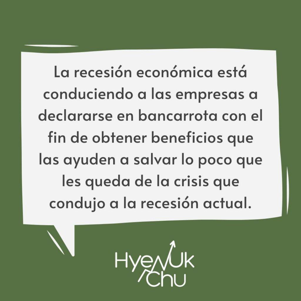 Clave sobre la bancarrota- Hyenuk Chu