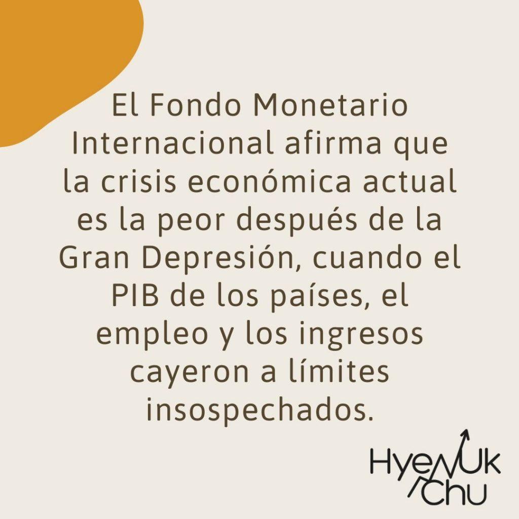 Lo que dice el FMI de las crisis financieras - Hyenuk Chu