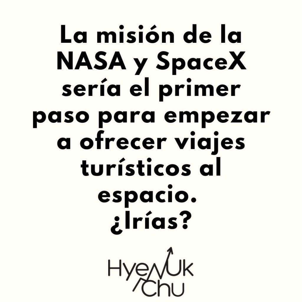 ¿Viajarías al espacio con SpaceX? - Hyenuk Chu