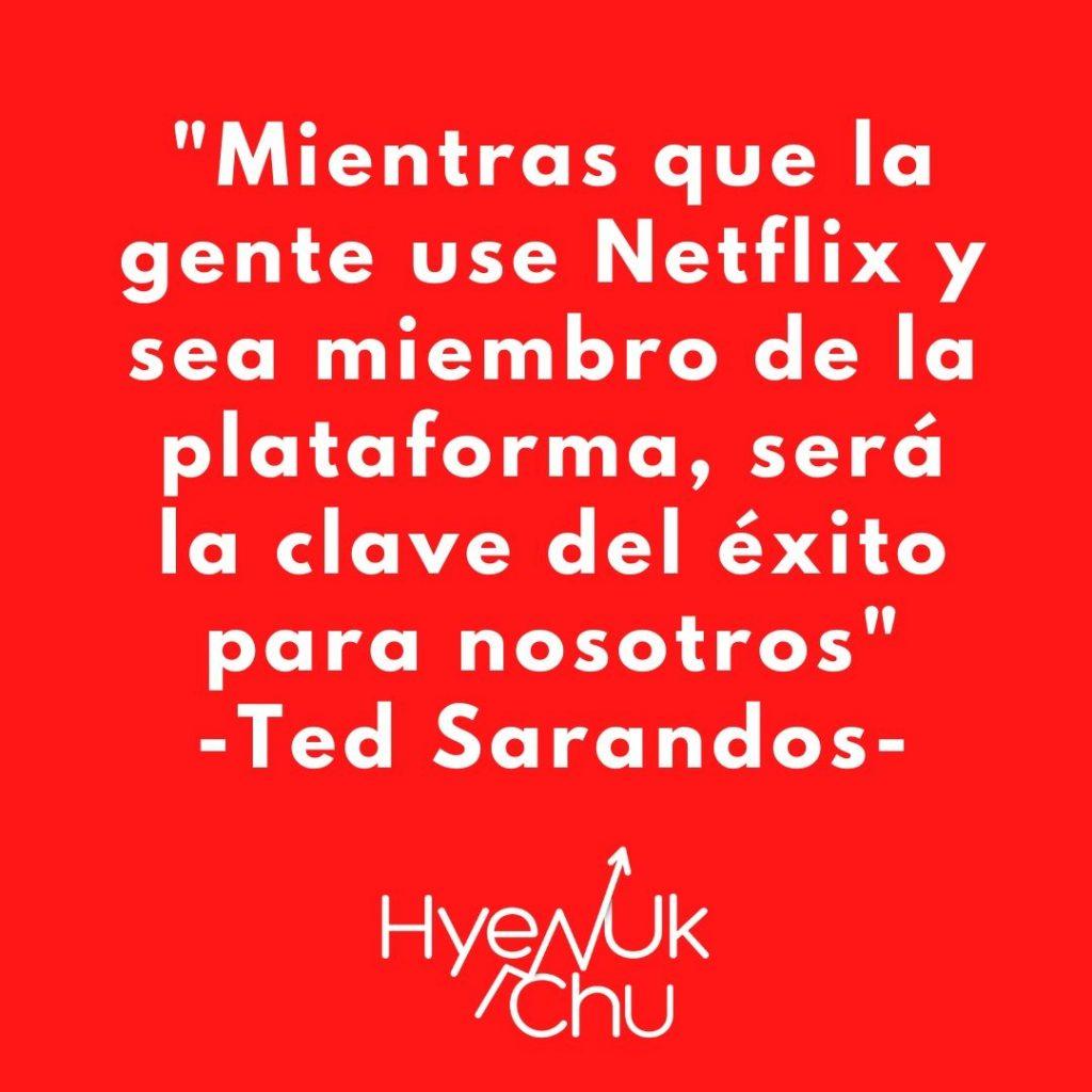 Frase sobre las proyecciones de Netflix - Hyenuk Chu