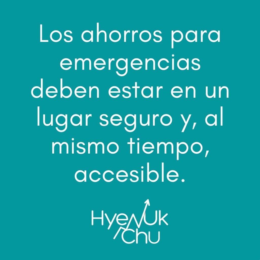 Para no olvidar sobre el ahorro para emergencias - Hyenuk Chu