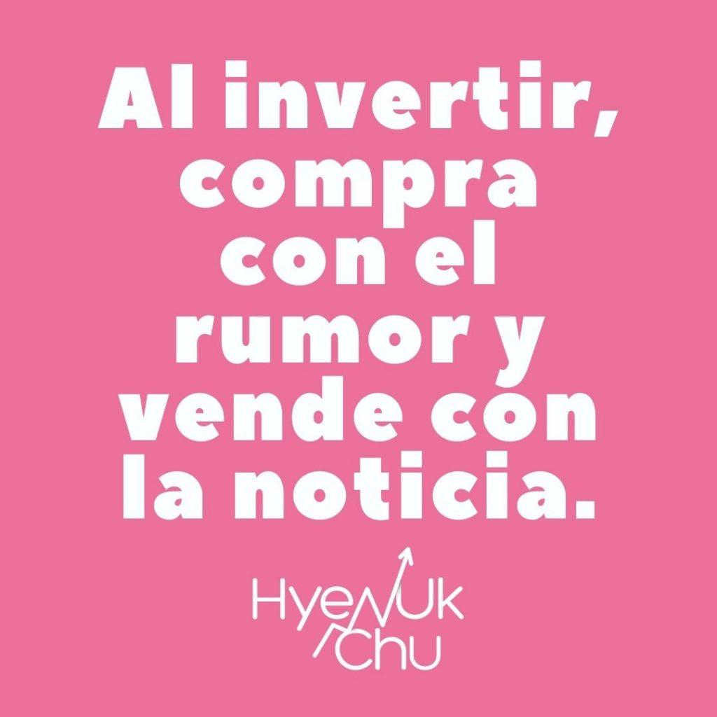 Al invertir en compañías tecnológicas... - Hyenuk Chu