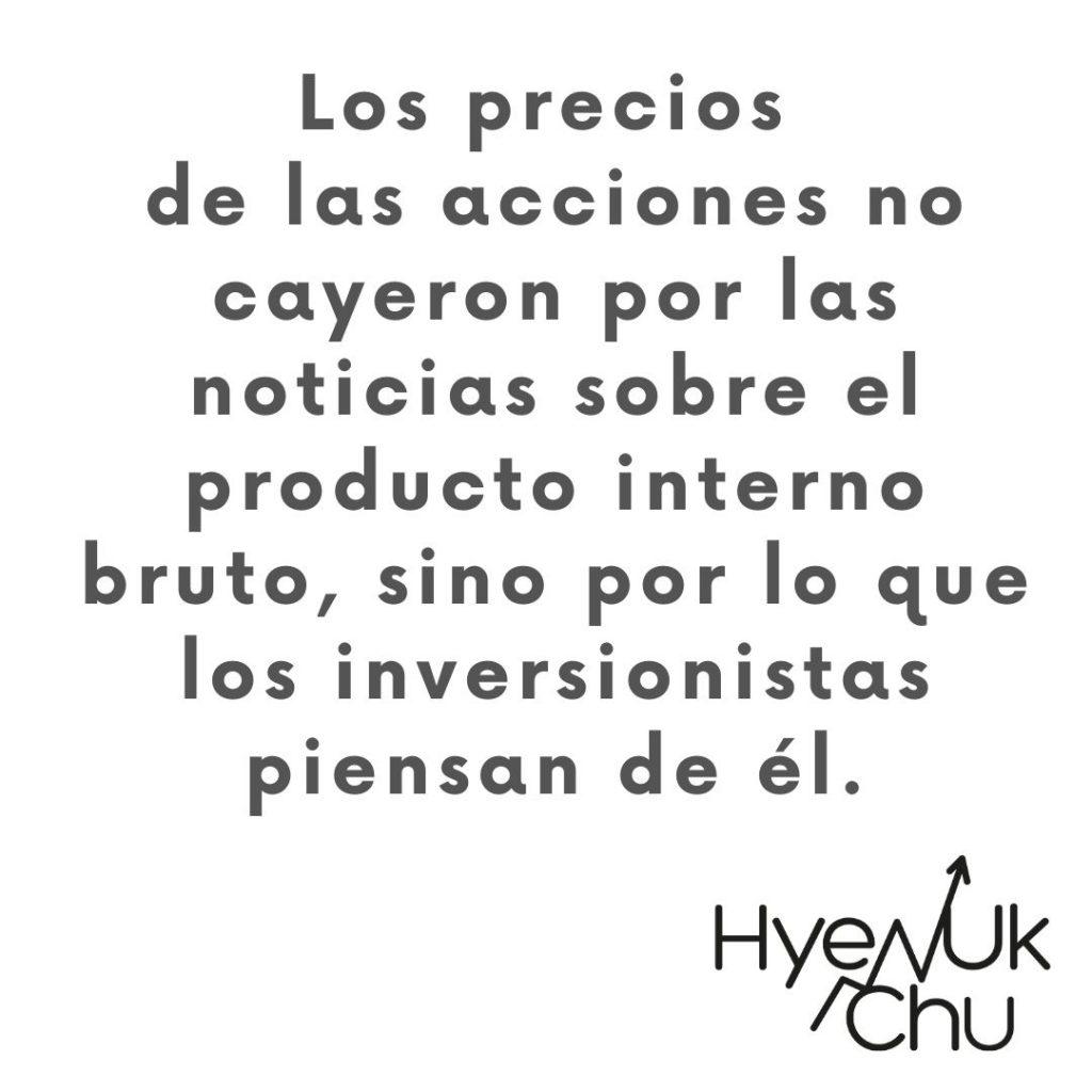 Dato sobre el producto interno bruto y las inversiones - Hyenuk Chu