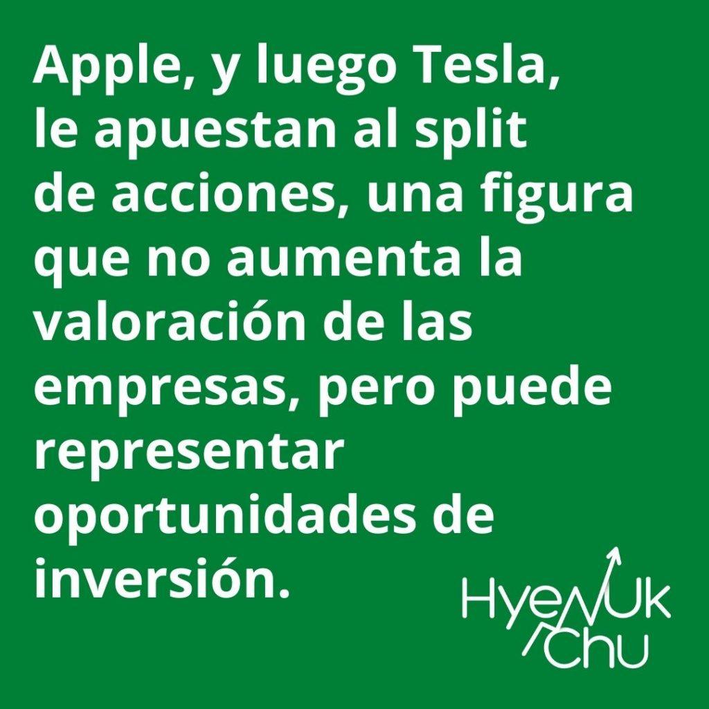 El Split de acciones de Apple y Tesla - Hyenuk Chu