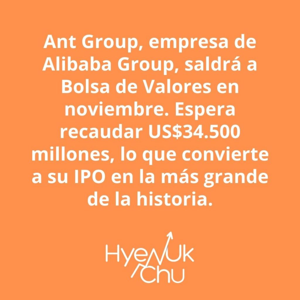 Ten presente este dato sobre Ant Group y su IPO – Hyenuk Chu Foto: Pixabay