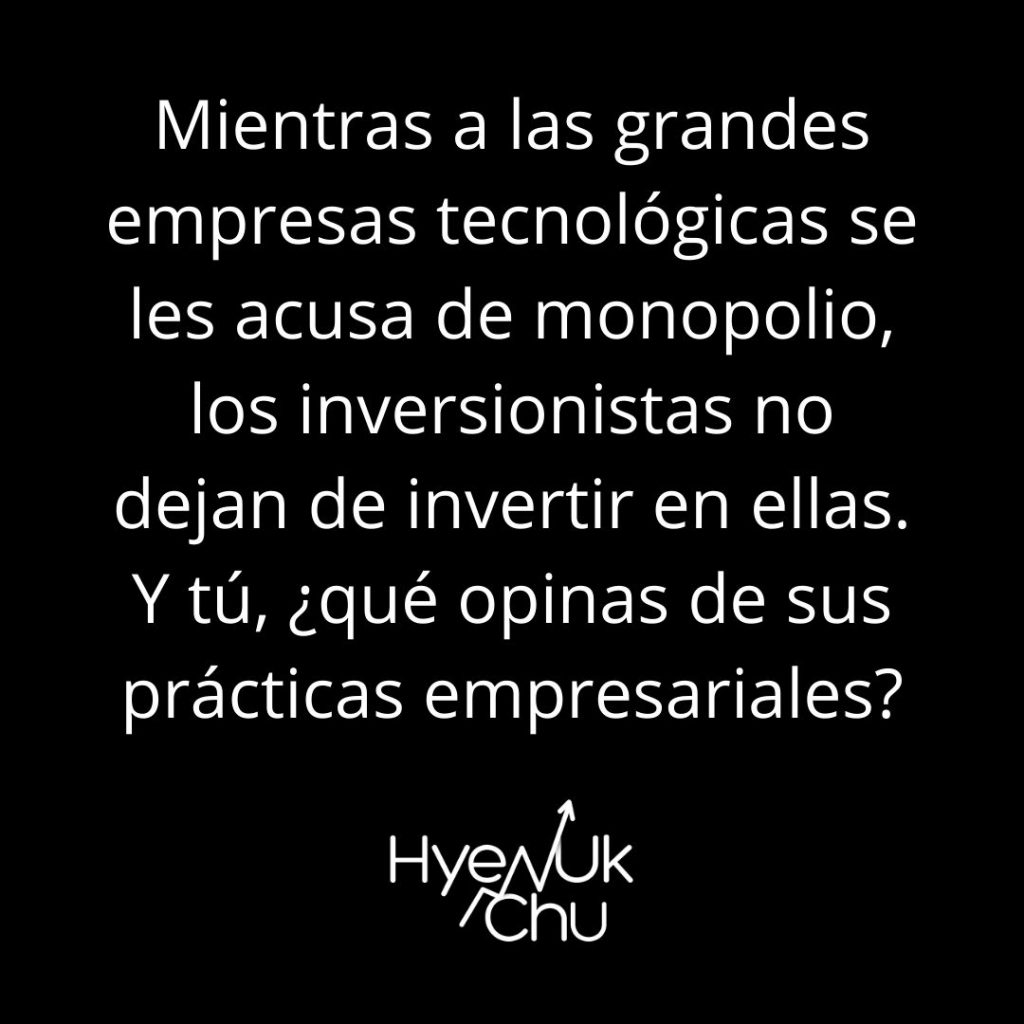 Monopolio en las empresas tecnológicas - Hyenuk Chu