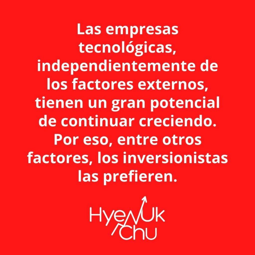 Dato sobre las acciones de tecnología – Hyenuk Chu
