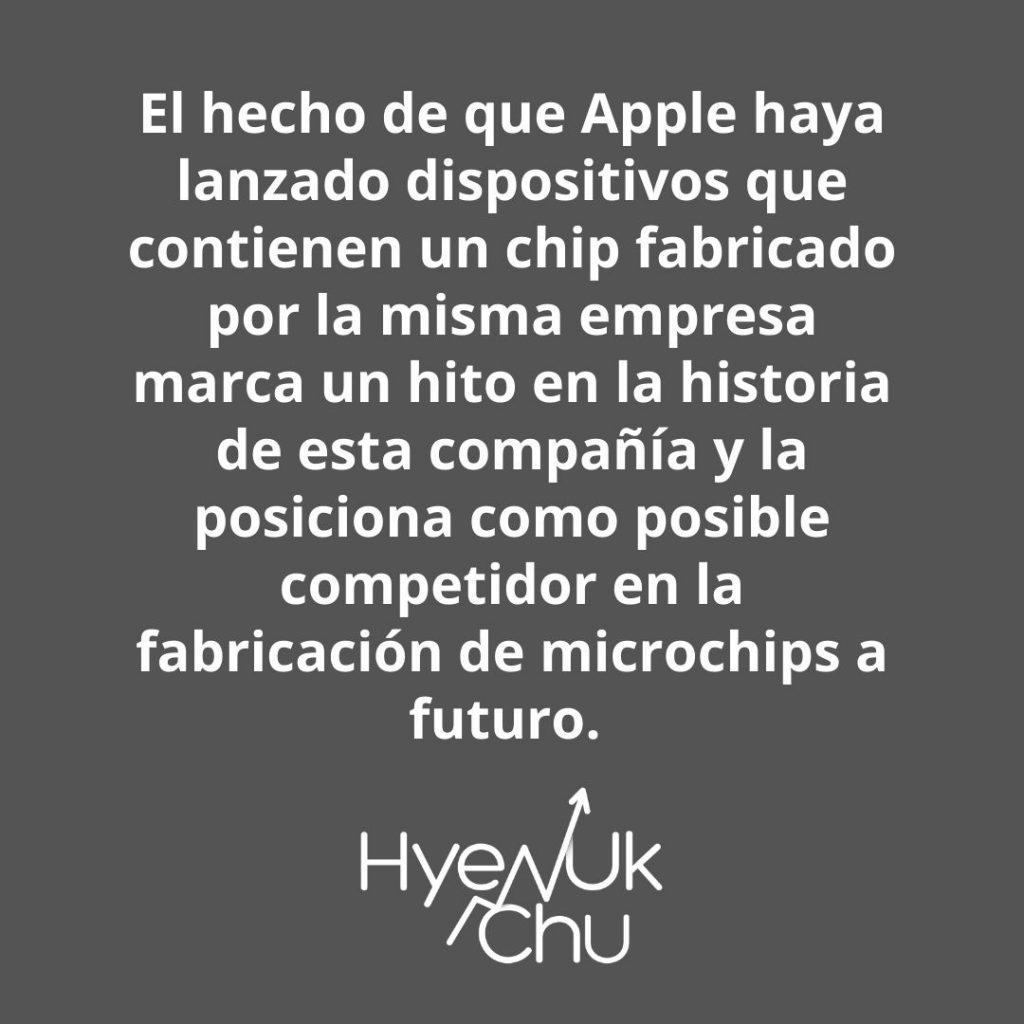Consecuencia de los lanzamientos de Apple – Hyenuk Chu