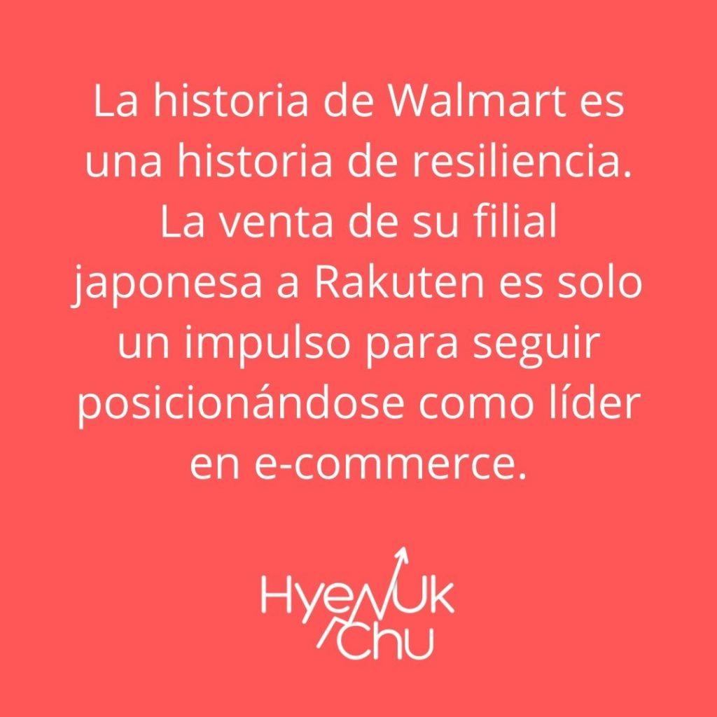 Dato sobre Rakuten y acciones de Walmart – Hyenuk Chu