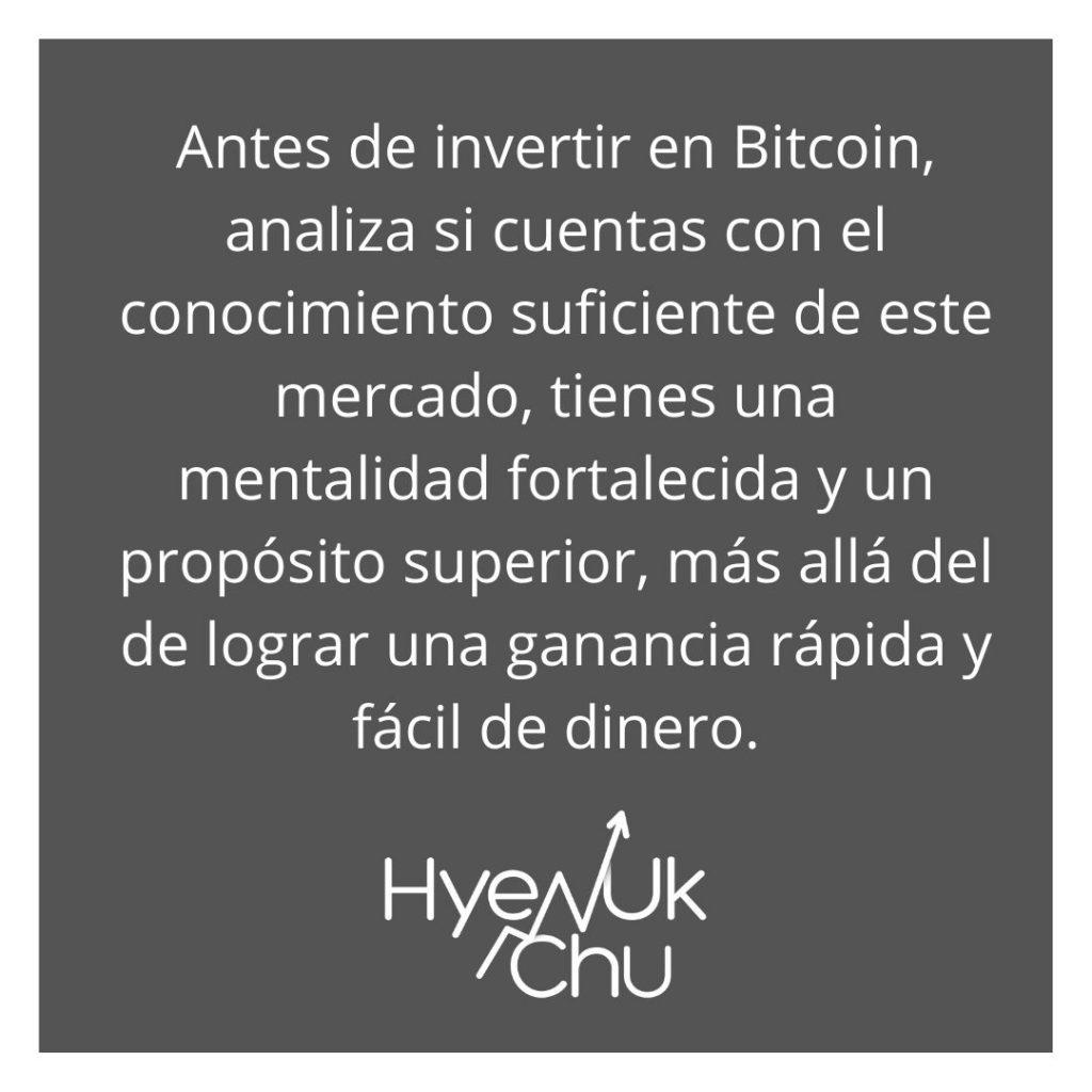 Si Bitcoin sigue haciendo historia, ¿tú qué harás? – Hyenuk Chu