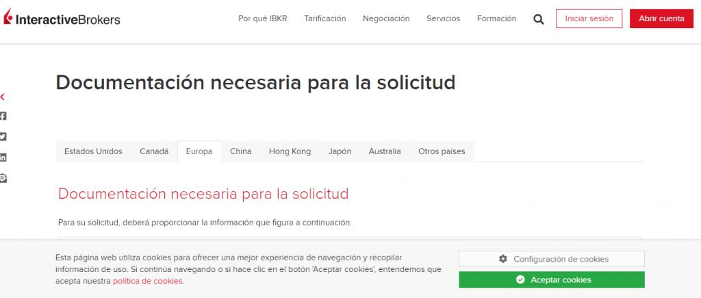 Documentos para que sepas cómo abrir una cuenta en InteractiveBrokers