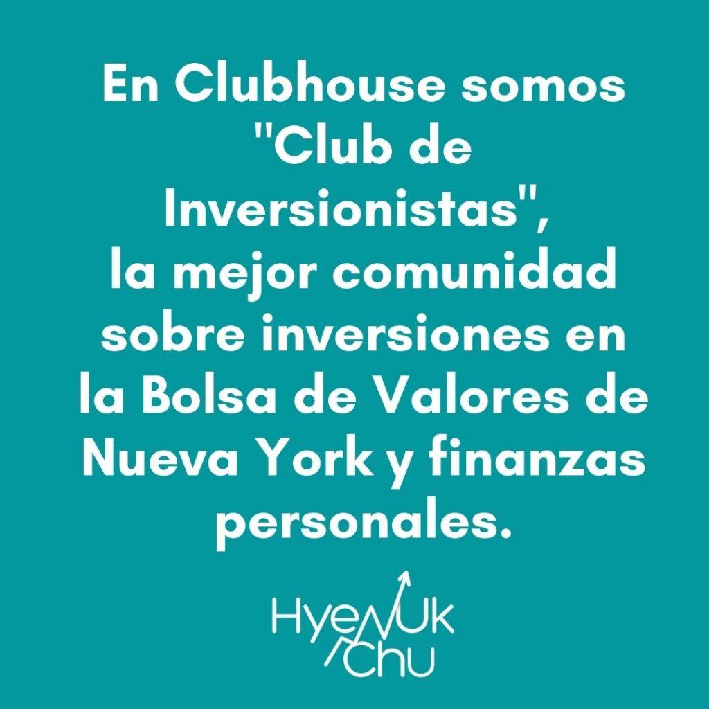 El Club de Inversionistas también está en Clubhouse