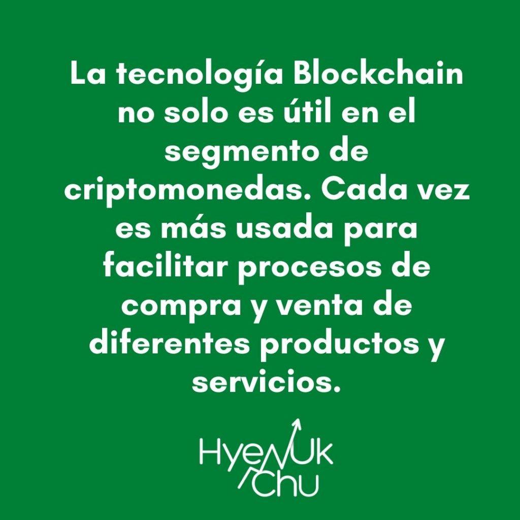 Blockchain tiene cada vez más usos