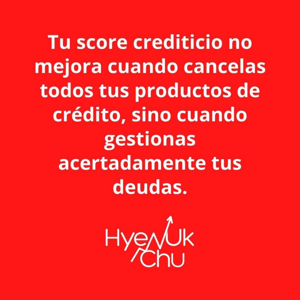 Score crediticio y deudas