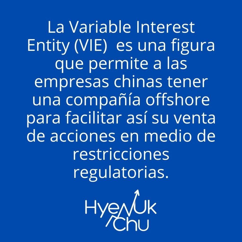 Definición de VEI y acciones chinas