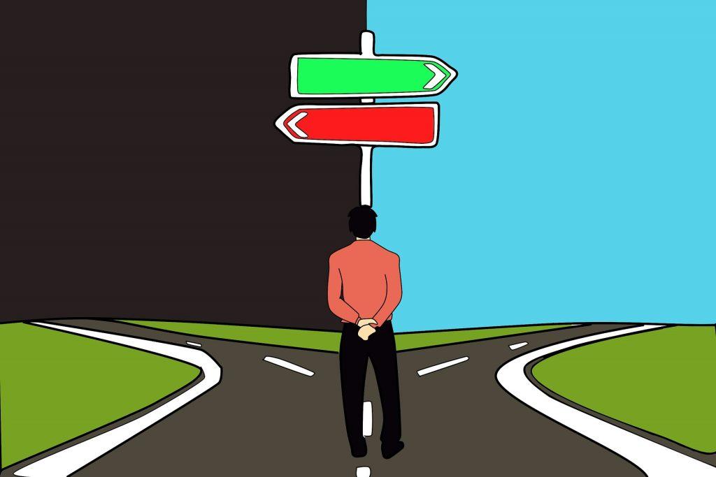 En ocasiones, las opciones en la vida nos retan